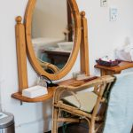 Child sized grooming table and mirror