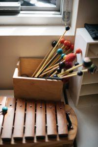 Orff instrument in Montessori classroom.