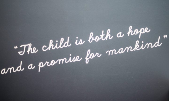 The child is both a hope and a promise for mankind.